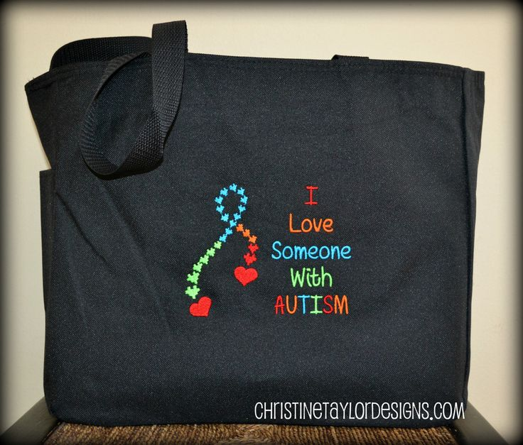 Autism Awareness - I love someone with Autism Tote Bag
