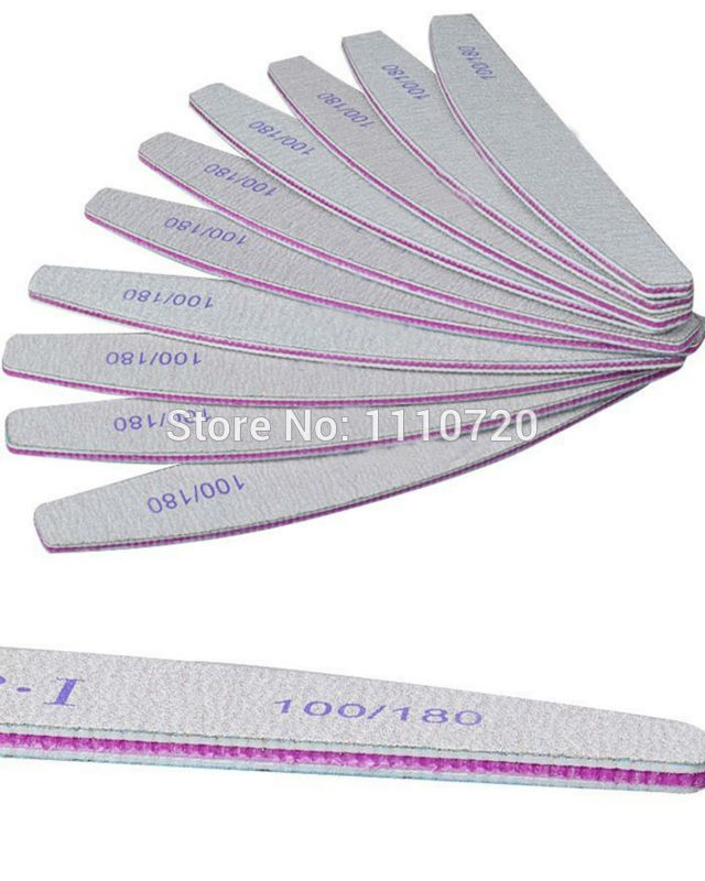 Free Shipping Grey ACR Nail File Buffer 100/180 Manicure Tools M01242
