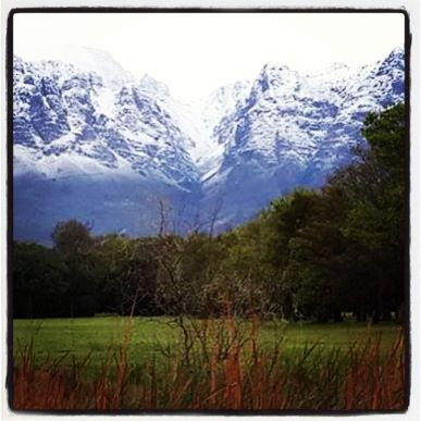 Snow on the Hottentots Holland Mountains