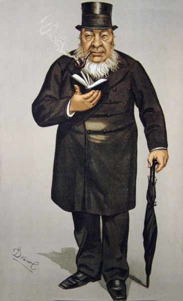 Paul Kruger, President of the South African Republic at the time of the Boer War, with his Bible, top hat and umbrella.