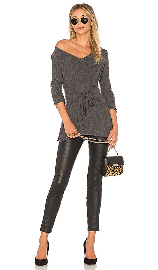 cd9f7a8defb LA Made Elliot Tunic Top in Charcoal | REVOLVE | style | Tunic tops ...