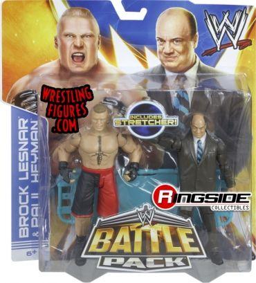 Paul Heyman & Brock Lesnar - WWE Battle Packs 25   Ringside Collectibles