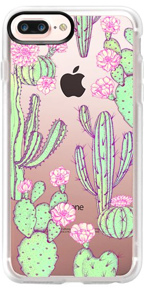 Casetify Protective iPhone 7 Plus Case and iPhone 7 Cases. Other Cacti iPhone Covers - Cactus by Elmiraamirova | Casetify