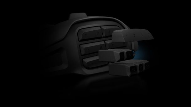 Roccat Nyth MMO mouse supports 3D printed buttons in a fully modular grid