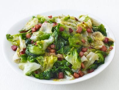 Escarole with Pancetta #Veggies #MyPlate #ItalianInspired