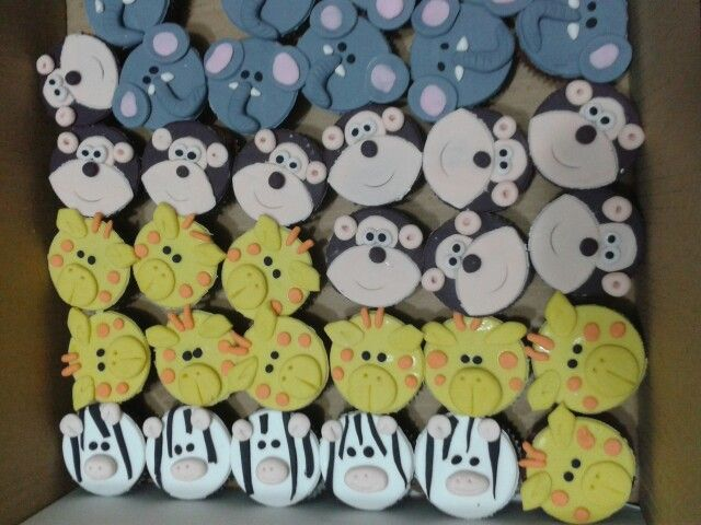 Mini cupcakes safari ♥