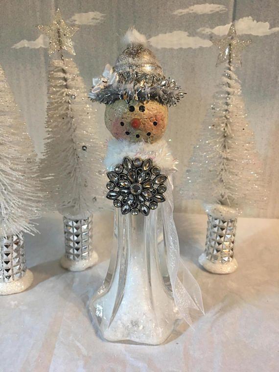 Sweet Vintage Salt Shaker Snowman