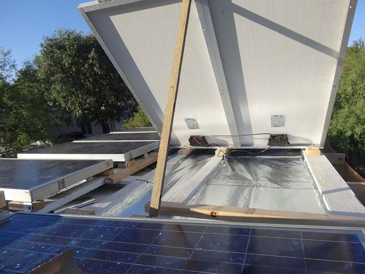 An Arizona-based customer used InfraStop® to line his camper roof underneath a set of solar panels. He says it's lowering the internal temperature like a charm! http://www.insulationstop.com/radiant-barrier-blog/foil-insulation-used-desert-climate-outdoor-sun-shade/