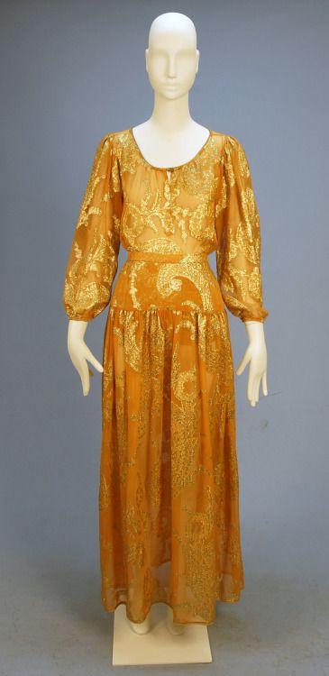 Dress, Yves Saint Laurent, 1970s, Whitaker Auctions