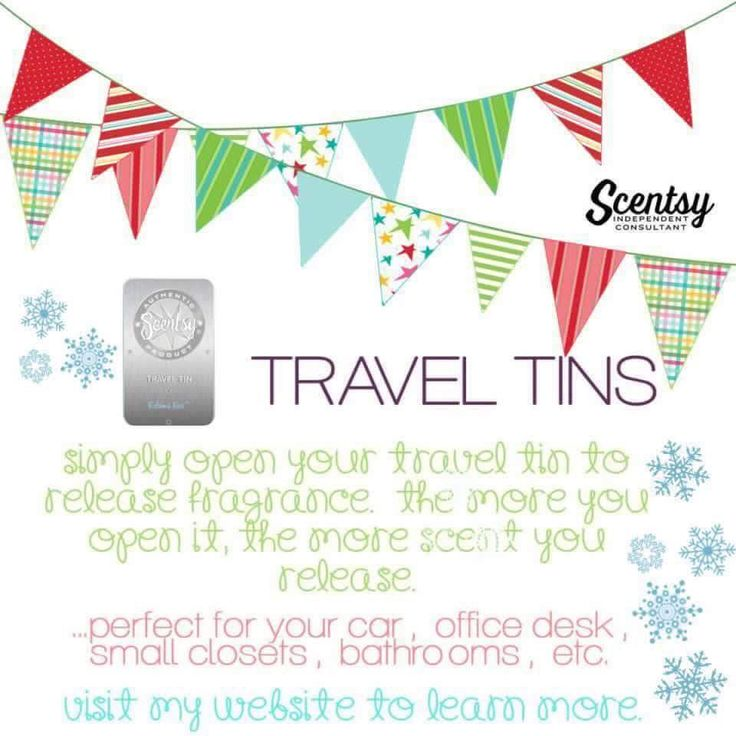 Scentsy Travel Tins Perfect For You Car Office Closets Bathrooms Etc