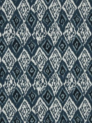 Teal Linen Ikat Fabric Contemporary Upholstery by PopDecorFabrics