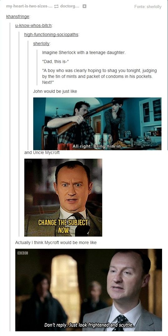 I like Mycroft's best