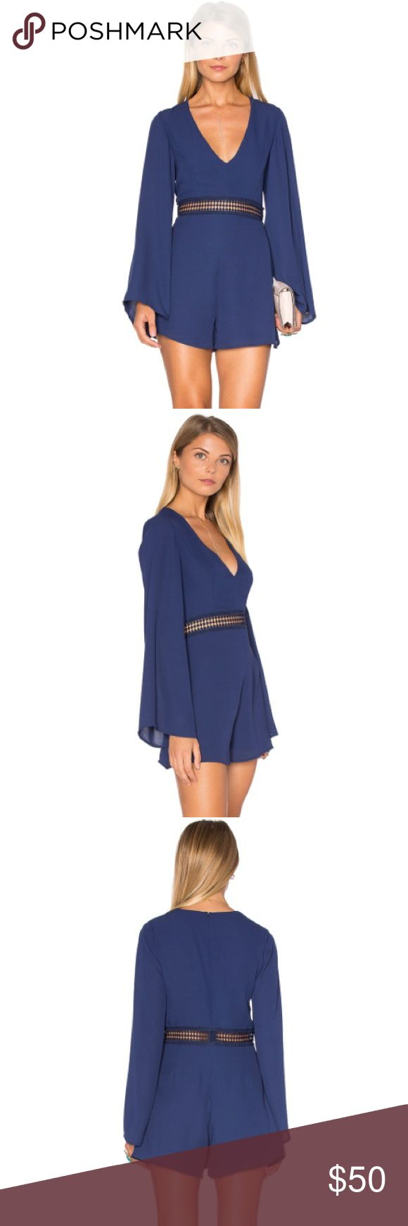 Wyldr Hope So Romper BNWT. Color is navy. Super cute with wedges or strappy heels! tags: for love and lemons, sabo skirt Wyldr Dresses