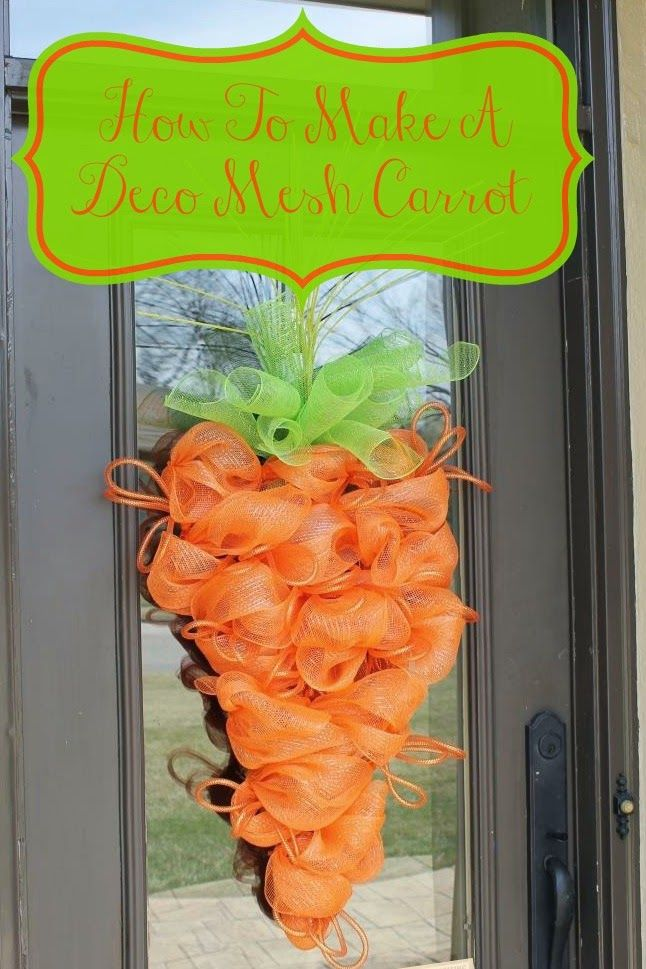 Miss Kopy Kat: DIY Deco Mesh Carrot