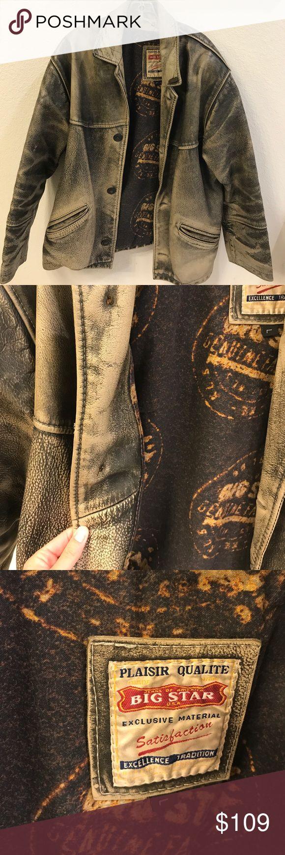 Vintage Mens Motorcycle Jacket Such a cool vintage, leather, heavy jacket for men! Levi's Jackets & Coats Bomber & Varsity
