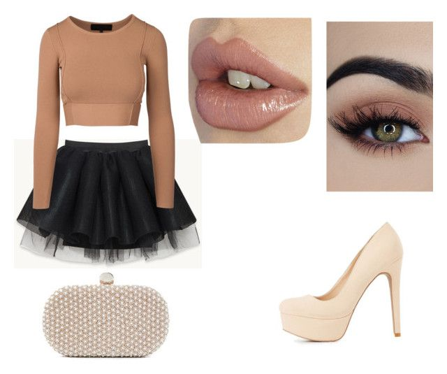 """look 1"" by lucianatorrez on Polyvore featuring Charlotte Russe and Santi"