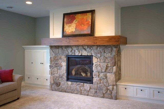 16 best fireplace inspirations images on pinterest for Fireplace material options