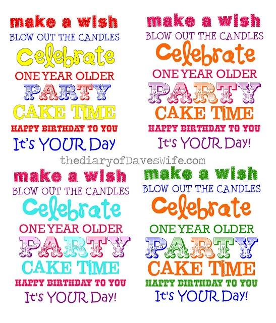 A To Zebra Celebrations: Happy Birthday Subway Art Free Printable
