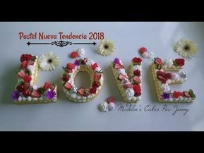 Galleta/Pastel Letras Nueva Tendencia - YouTube