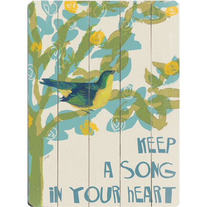 Song in Your Heart Wall Decor - Freshly Picked on Joss & Main