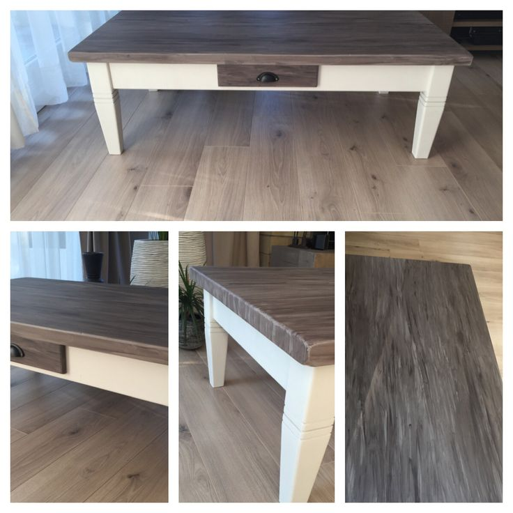 redo of old wooden coffeetable