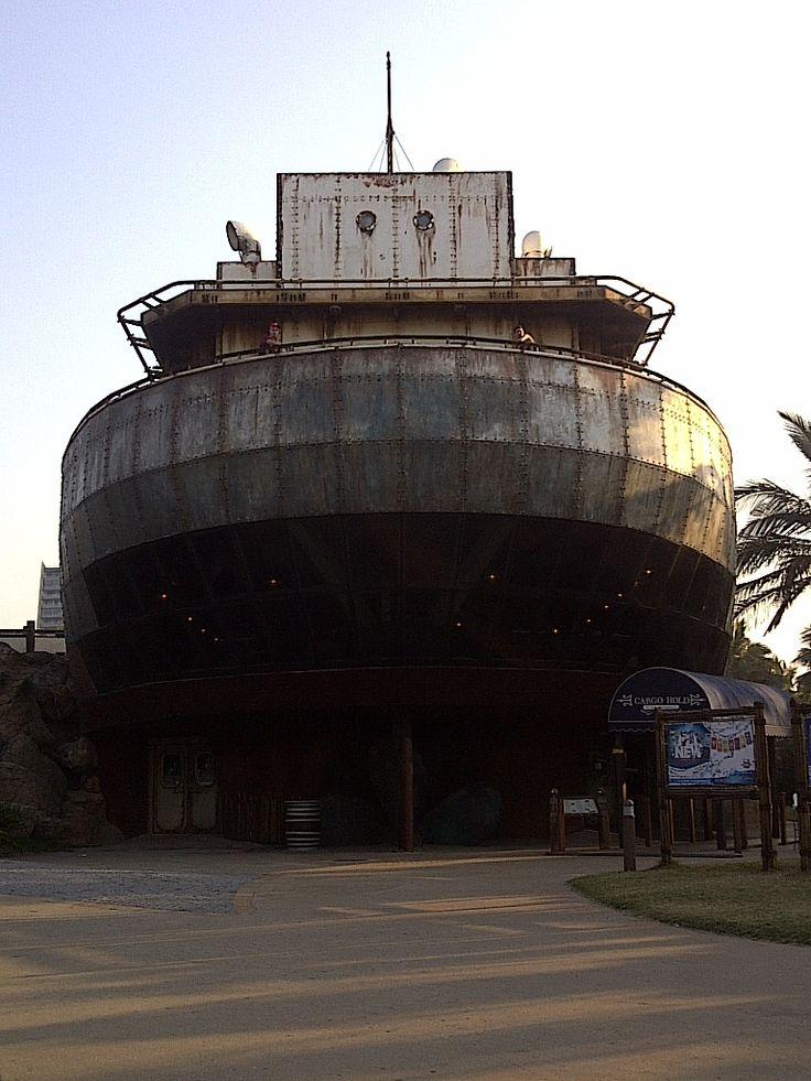 Ship turned Restaurant at uShaka Marine World. Durban, South Africa