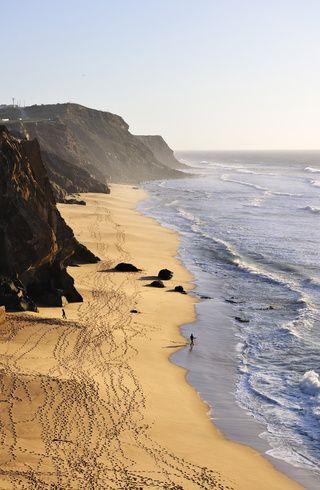 Praia de Santa Cruz, Torres Verdes, Portugal