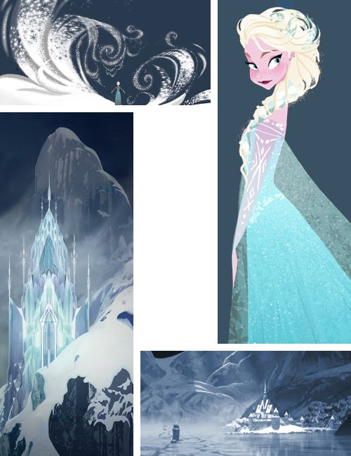 The Art of Frozen <<< Is it just me, or does the bottom right one look like there's a Tardis in it?