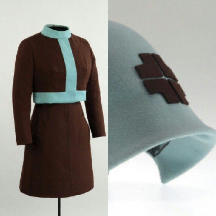 Uniform Expo 67 hostess uniform, Quebec Government Pavilion Dupuis Frères 1967, 20th century