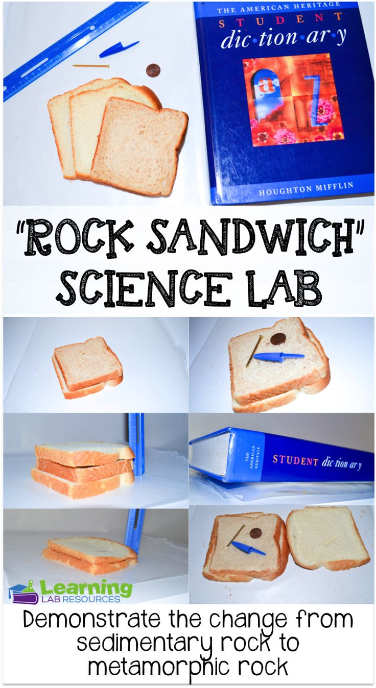 "Common Core and So Much More: ""Rock Sandwich"" Science Lab"