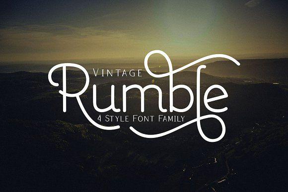 Rumble 4 Font by Ijemrockart on @creativemarket