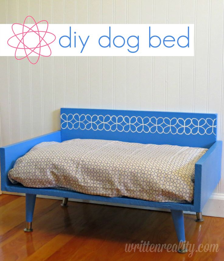 Here's an easy way to create a mod-style DIY Dog Bed for your fur baby.