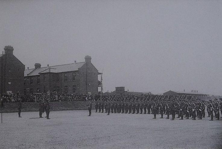 Possibly 2RWF Parade. Llanion Barracks, Pembroke Dock where 2 RWF were based 15 Dec 1922 to Nov 1926.