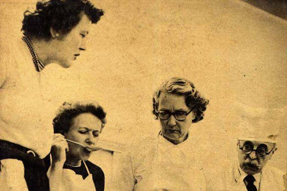 Julia Child, Louisette Bertholle, Simone Beck, Max Bugnard