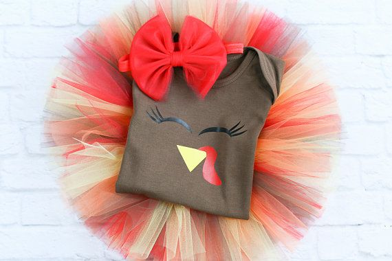Newborn Thanksgiving Outfit  Infant by MamaPeacockBabyOwl on Etsy
