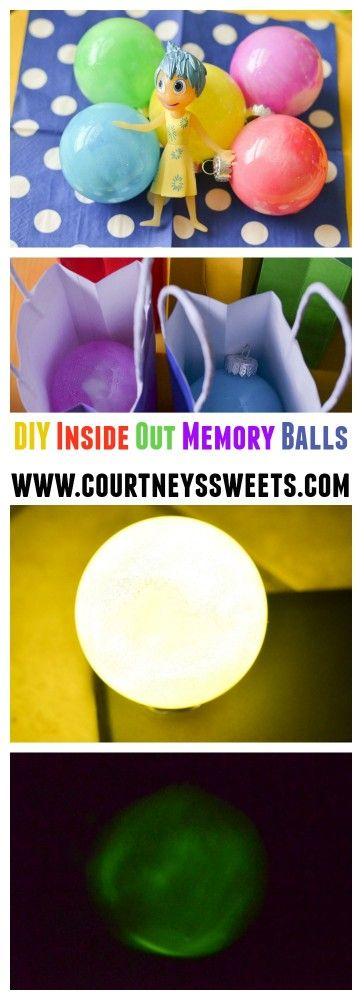 Inside Out Birthday Party Idea, Inside Out Toys, PLUS DIY Memory Balls! www.courtneyssweets.com