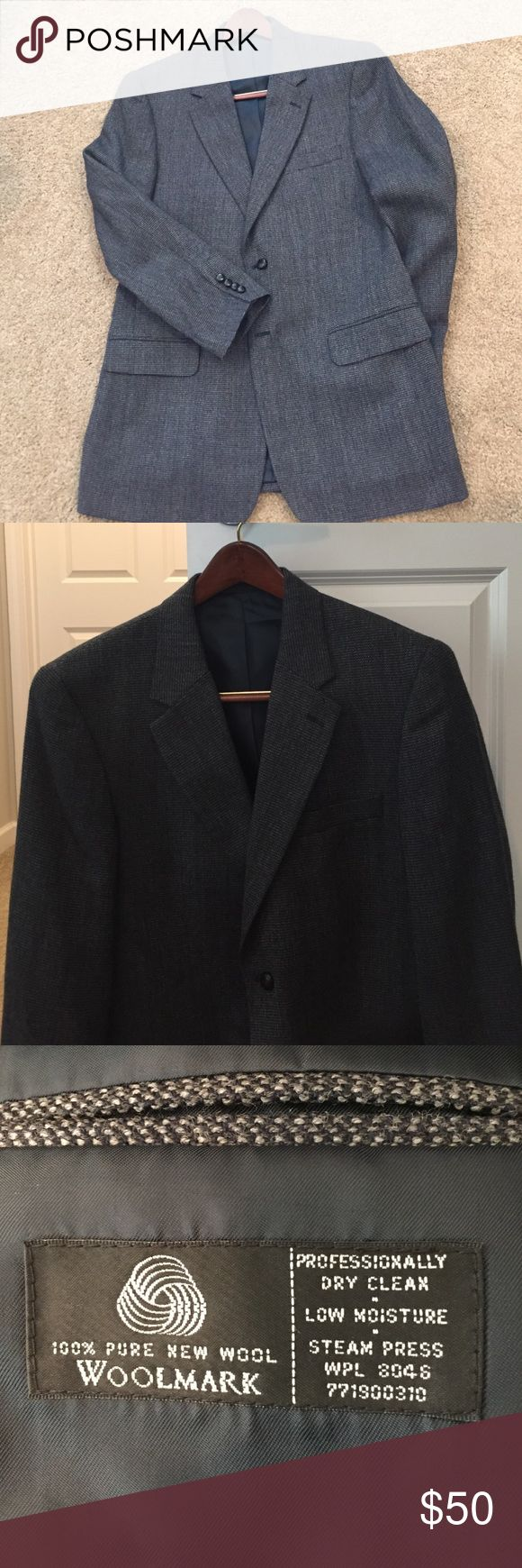 Men's Wool Blazer NWOT. Men's 100% wool blazer. Small moth hole on back of jacket (see pic). Savile Row Suits & Blazers Sport Coats & Blazers