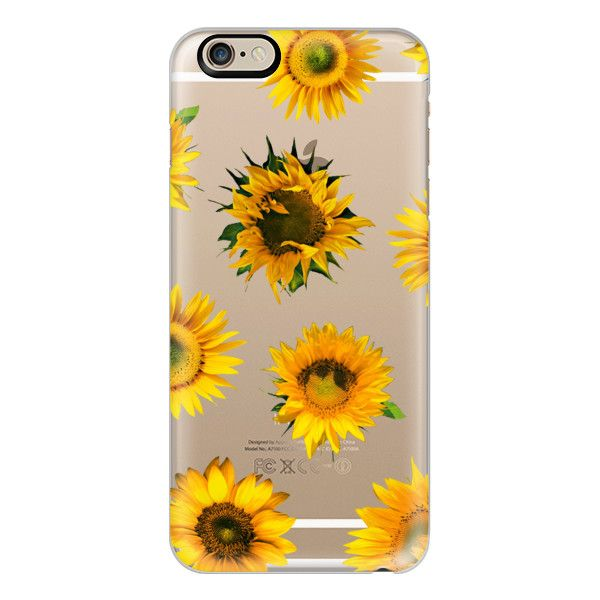iPhone 6 Plus/6/5/5s/5c Case - MOTELS SUNFLOWER PRINT - TRANSPARENT ($40) ❤ liked on Polyvore
