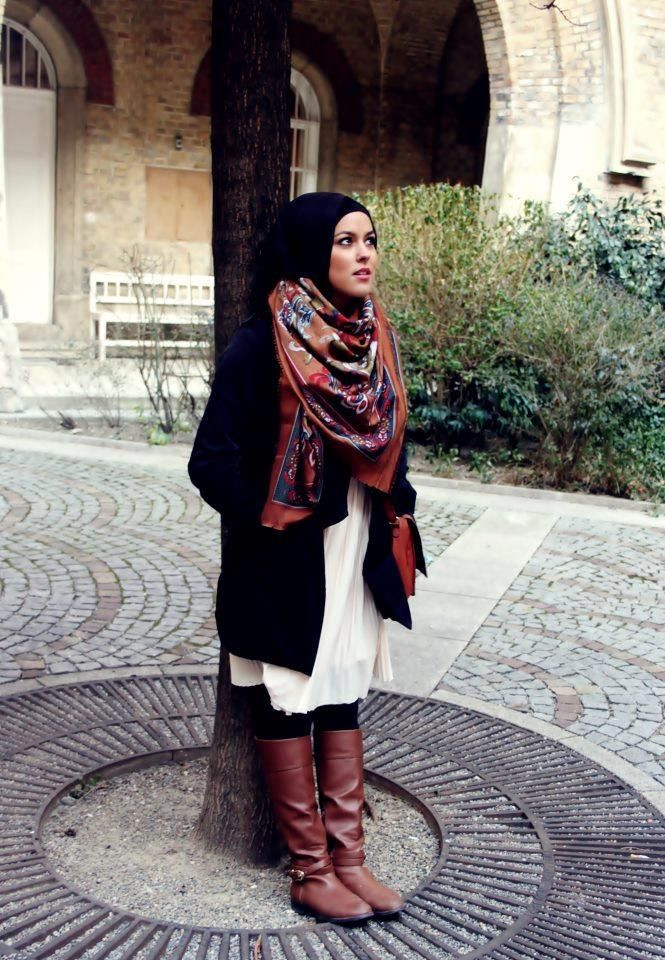 cute and casual winter hijab outfit :)
