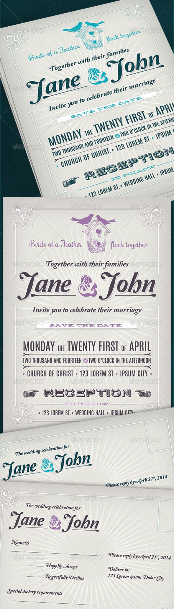 Best 25+ Retro wedding invitations ideas on Pinterest | Retro ...