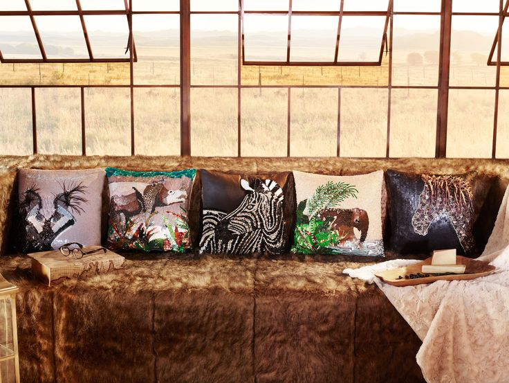 The Safari collection brings the #African savannah into the home through intricate embellishments, colours and wildlife designs.