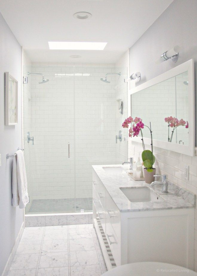The 6 best paint colors to coordinate with marble white - Bathroom paint colors with gray tile ...