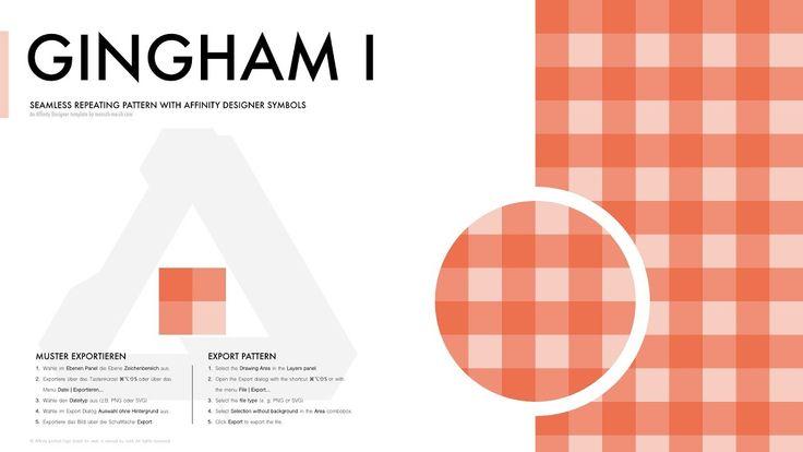 Affinity Designer Pattern - Gingham I (Vichy, Bauernkaro)  Created with the #AffinityDesignerPatternTemplate for #Affinity Designer: https://mensch-mesch.com/download/download-affinity-designer-pattern-template/