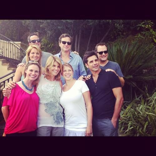 The Full House cast reunited to celebrate the shows twenty fifth anniversary