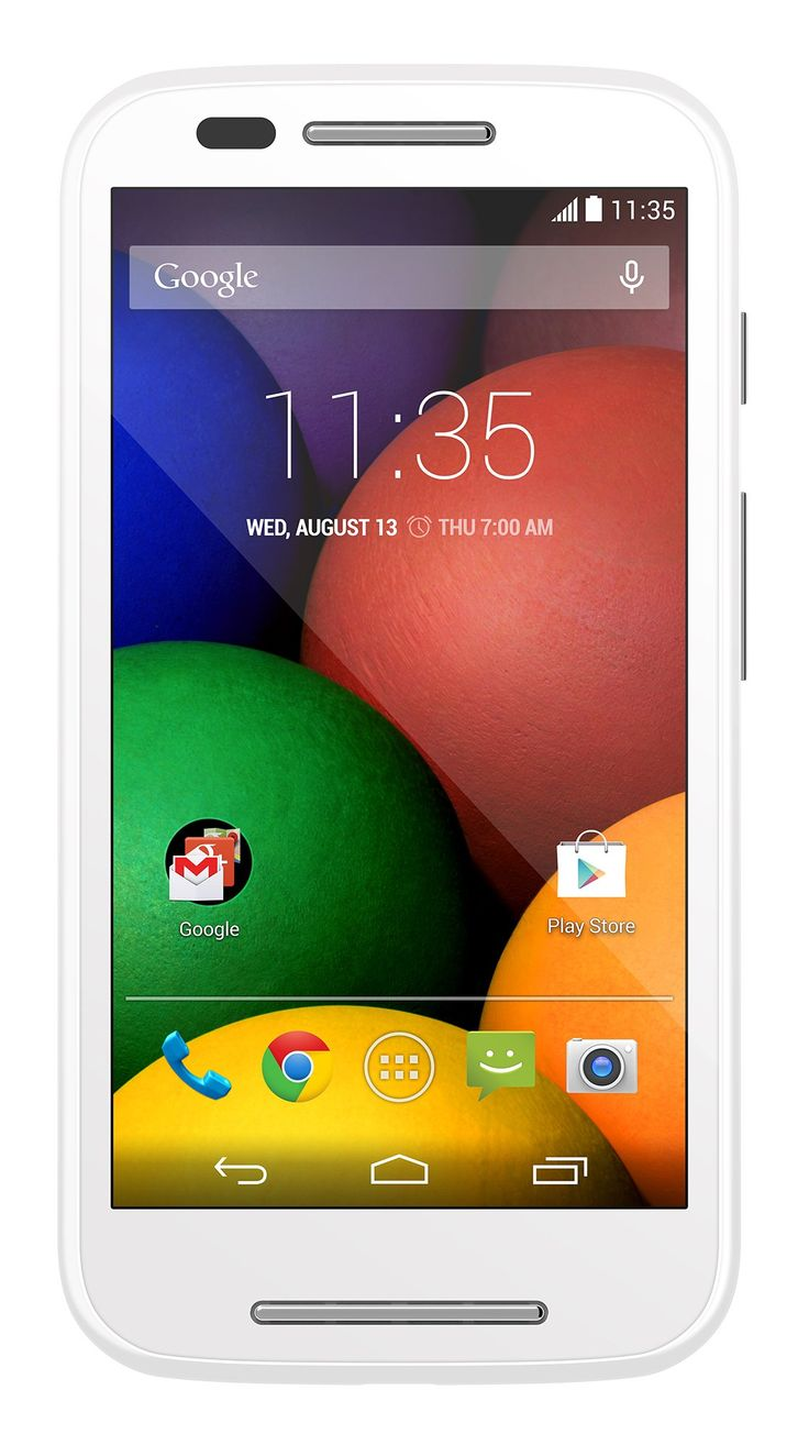 Motorola Moto E (1st Generation) - White - 4 GB - Global GSM  Unlocked Phone