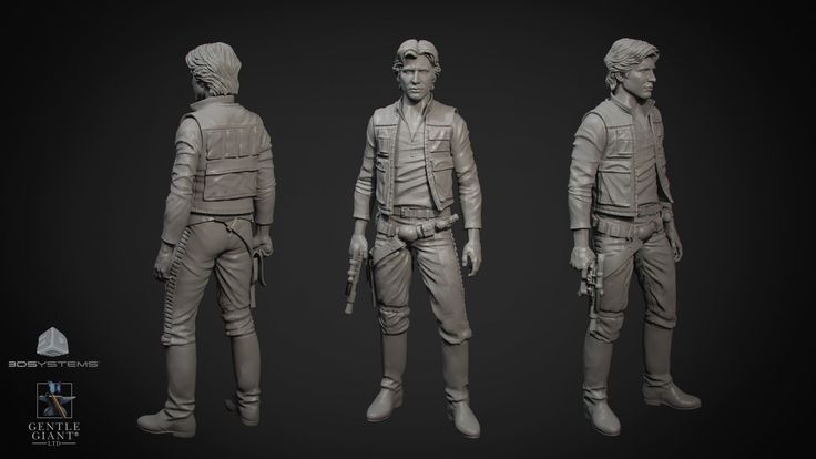 ArtStation - Han Solo Statue, George Georgy