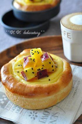 「ジンジャーカスタードのおさつパン」nonnon   お菓子・パンのレシピや作り方【corecle*コレクル】