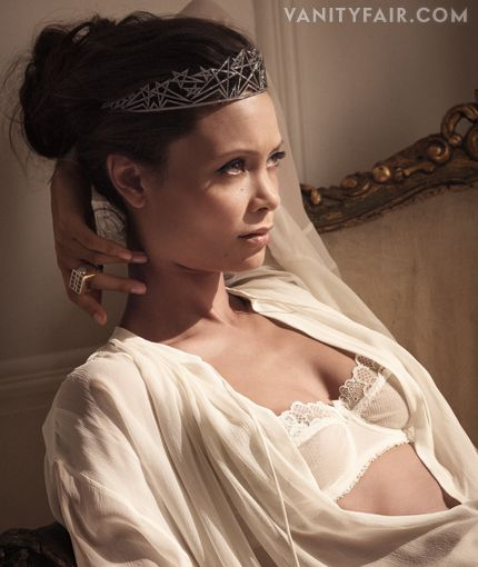 Thandie Newton by Photograph by Mark Seliger. Styled by Mouchette Bell; hair by Maarit Niemela at D+V; makeup by Kay Montano at D+V; nails by Steph Mendiola at Emma Davies. Bra by Mimi Holiday and blouse by Tom Ford.