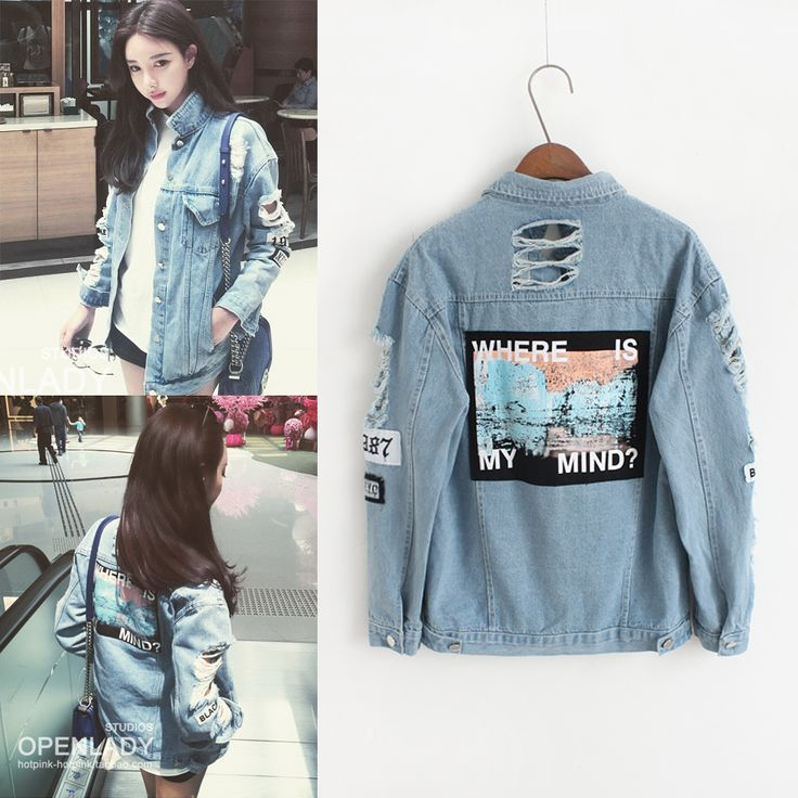 new ds dj dance Vintage Embroidery Letters Jeans Loose BF Back Patch Denim Jacket Coats Oversize Women Style Outerwear-in Basic Jackets from Women's Clothing & Accessories on Aliexpress.com | Alibaba Group