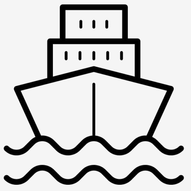 Black Ship Line Art Element Black Flattened Cartoon Illustration Png Transparent Clipart Image And Psd File For Free Download Elements Of Art Line Art Clip Art